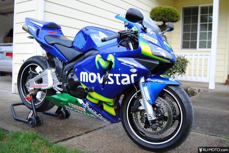 Honda CBR600RR тюнинг синий