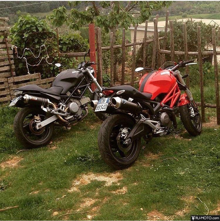 Два Ducati в деревни