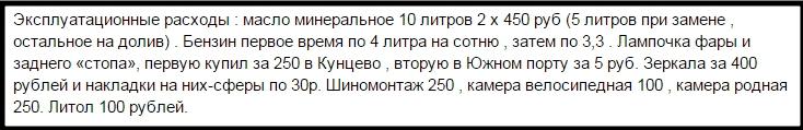 Отзыв о раcходах на lifan lf 200