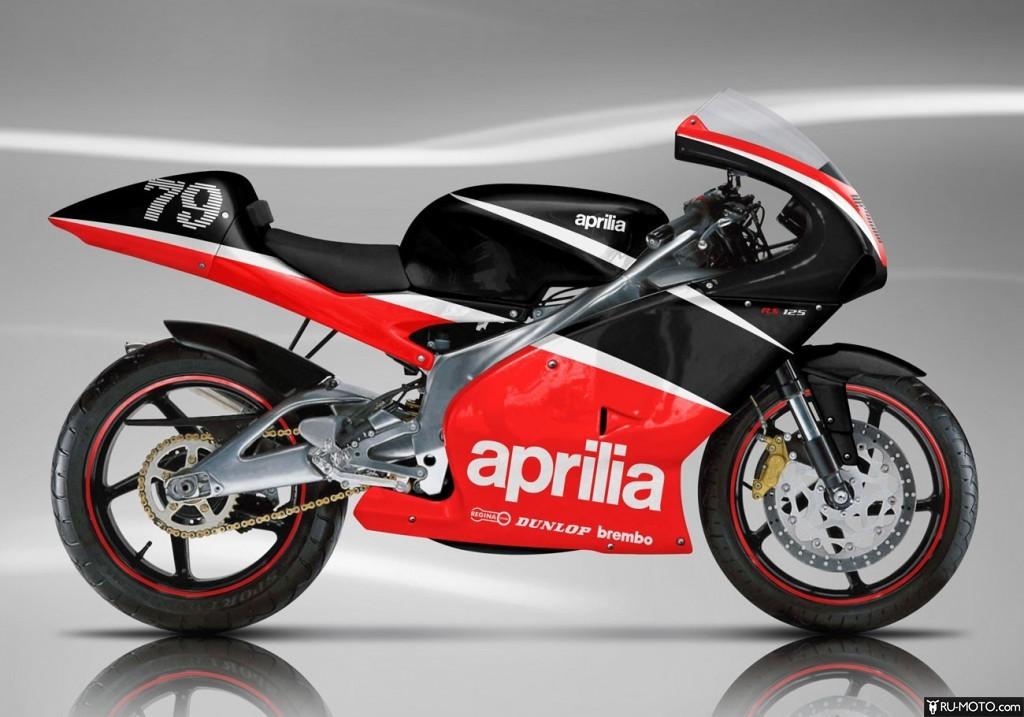 Aprilia RS 125. Тюнинг внешнего вида. Черный/красный цвет. Фото №1