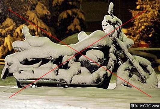 Консервация мотоцикла на зиму и где хранить свой мото зимой