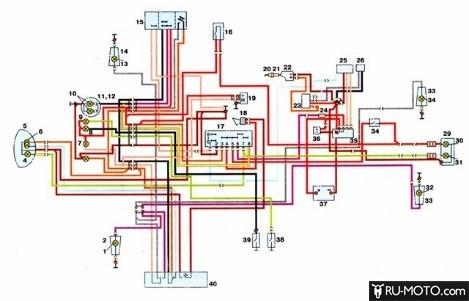 Электрическая схема Иж Планеты 5